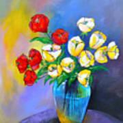 De Rosas Y Azucenas Art Print
