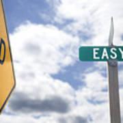 Dead End On Easy Street Art Print