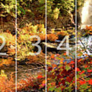 Dead River Falls Marquette Michigan Panoramic Map Art Print