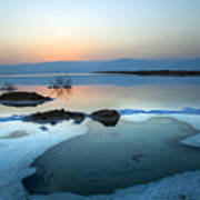 Dead Sea Shallow Waters At Dawn Art Print