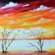 Dead Trees Reflection Art Print