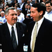 Dean Smith And Mike Krzyzewski Art Print