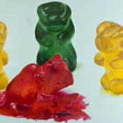 Death Of A Gummy Bear II Art Print