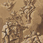 Death Of A Holy Friar Art Print