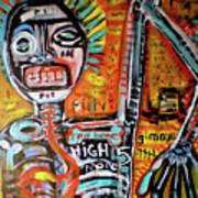 Death Of Basquiat Art Print by Robert Wolverton Jr