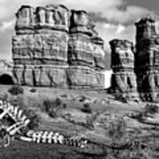 Death On Notom-bullfrog Road - Capitol Reef - Bw Art Print