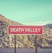 Death Valley Sign Art Print