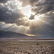 Death Valley Sun Burst Art Print