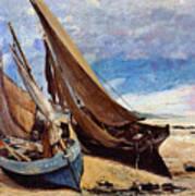 Deauville Beach 1866 Art Print
