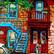 Debullion Street Neighbors Art Print