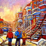 Debullion Street Winter Walk Art Print