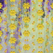 Decadent Urban Bright Yellow Patterned Purple Abstract Design Art Print