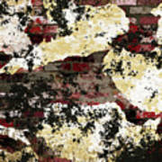 Decadent Urban Red Bricks Painted Grunge Abstract Art Print