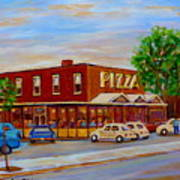 Decarie  Tasty  Food  Pizza Art Print