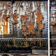 Decaying Railroad Car Art Print