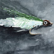 Deceiver Fishing Fly Art Print by Sean Seal
