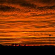 December Nebraska Sunset 002 Art Print
