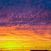 December Nebraska Sunset 003 Art Print