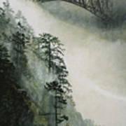 Deception Pass Fog Art Print
