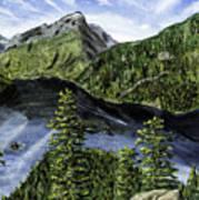 Deception Pass Painting Art Print