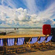 Deck Chairs At Southend On Sea Art Print