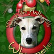 Deck The Halls With Whippets Art Print by Renae Laughner