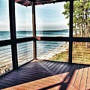 Deck With Ocean View Art Print