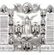 Declaration Of Independence 1884 Poster Restored Art Print