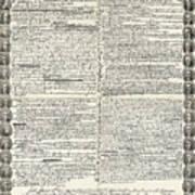 Declaration Of Independence Art Print