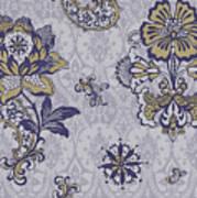 Deco Flower Blue Art Print