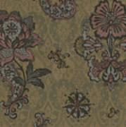 Deco Flower Brown Art Print by JQ Licensing