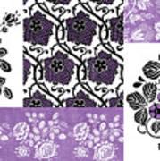 Deco Flower Patchwork 3 Art Print by JQ Licensing