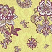 Deco Flower Yellow Art Print