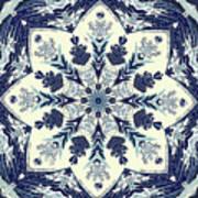 Deconstructed Sea Mandala Art Print