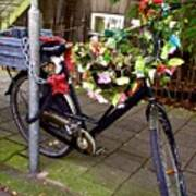 Decorated Bicycle. Amsterdam. Netherlands. Europe Art Print