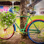Decorated Bicycle In The Park Art Print
