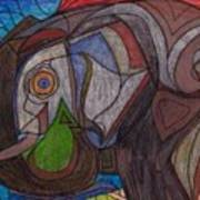 Decorated Elefant Art Print