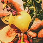Decorated Organic Vegetables Art Print