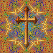 Decorative Cross Art Print