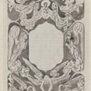 Decorative Design With Angels, Carel Adolph Lion Cachet, 1874 - 1945 Art Print