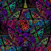 Decorative Pentacle Tiled Pattern Art Print