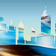 Decorative Skyline Abstract New York P1015b Art Print