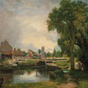 Dedham Lock And Mill Art Print