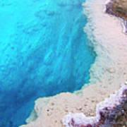 Deep Aqua Pool Of Yellowstone Art Print