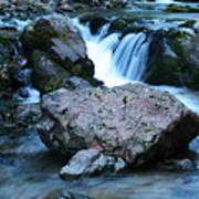 Deep Creek Flowing Between The Rocks Art Print