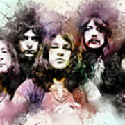 Deep Purple.rock Stars Art Print
