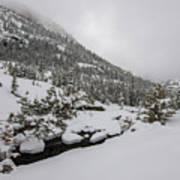 Deep Winter River Art Print