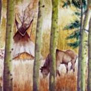 Deep Woods Camp Art Print