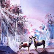 Deer Enchantment Art Print