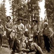 Deer Hunters  With Rifles Circa 1917 Art Print